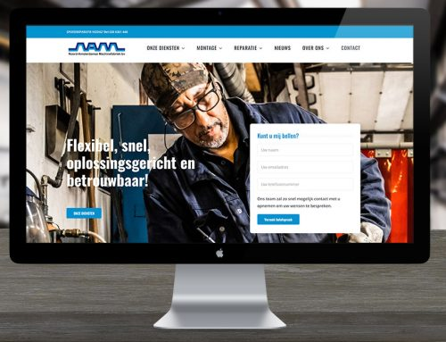 Nieuwe website Noord-Amsterdamse Machinefabriek